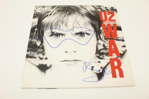 Bono Signed Autograph Album Vinyl Record - U2 War, The Joshua Tree W/ Sketch