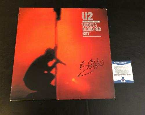 Bono Signed Autographed U2 Under A Blood Red Sky Vinyl Album Lp Beckett Bas