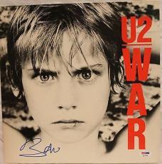 "BONO Signed Autographed U2 ""War"" Album LP PSA/DNA #Q14709"