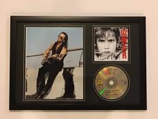 """Bono Signed Framed """"war"""" Cd U2 Legend Autographed Proof"""