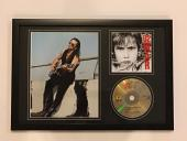 "Bono Signed Framed 12x18 ""war"" Cd & Photo Display U2 Legend Proof Jsa Loa"