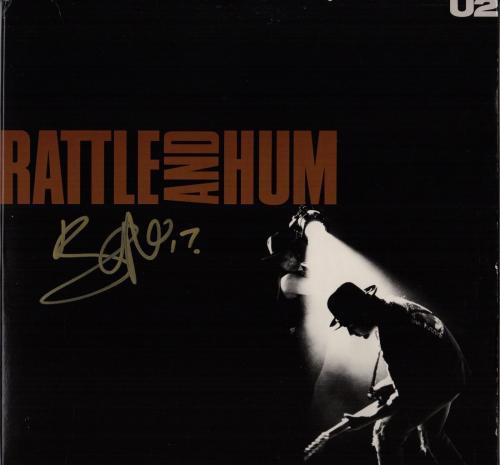 Bono Signed U2 Rattle And Hum Record Album Jsa Loa Z40364
