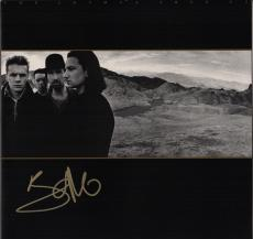 Bono Signed U2 The Joshua Tree Record Album Jsa Loa Z28672