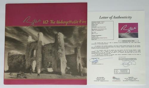 Bono Signed U2 The Unforgettable Fire Record Album Jsa Loa Z08921