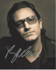 BONO - SINGER/SONGWRITER/VENTURE CAPITALIST - Best Known as the LEAD VOCALIST of ROCK BAND U2 Signed 8x10 Color Photo