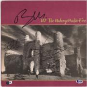 Bono The Edge Adam Clayton U2 Autographed Unforgettable Fire Album - BAS