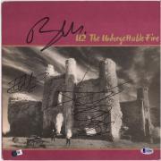 Bono The Edge Adam Clayton U2 Autographed Unforgettable Fire Album - BAS