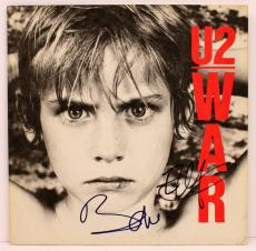 "Bono & The Edge Signed Autographed U2 ""war"" Album Cover Psa/dna #i66392"