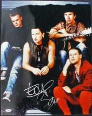 Bono & The Edge U2 Signed 16X20 Photo Autographed PSA/DNA #J00079