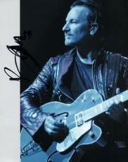 Bono U2 Autographed Signed Blue Sepia Photo AFTAL UACC RD COA