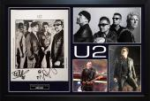 Bono U2 Edge Autographed Signed 8x10 Photo Custom Display AFTAL UACC RD CO