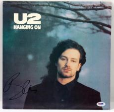 Bono U2 Hanging On Signed Album Cover Autographed PSA/DNA #X31292
