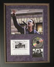 "BONO (U2) ""Joshua Tree"" signed/ framed display-JSA Letter"