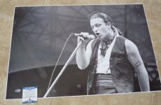 Bono U2 MUSEUM PIECE Signed Autographed 20x30 Promo Photo PSA Certified