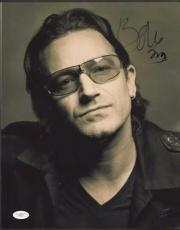 BONO ( U2) Signed 11x14 photo - Full JSA Letter #X36211