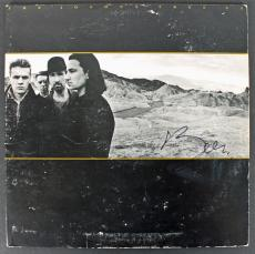 Bono U2 Signed The Joshua Tree Album Cover W/ Vinyl JSA #Y34078