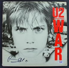 Bono U2 Signed 'War' Album Cover Autographed PSA/DNA #AB81051