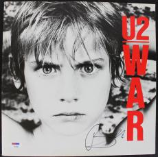 "Bono U2 Signed ""War"" Album Cover W/ Vinyl Autographed PSA/DNA #Z92891"