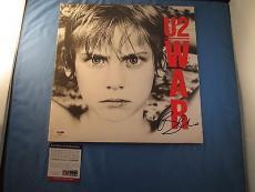 Bono U2 Signed WAR LP Vinyl Record Album Cover PSA DNA COA Autograph #AA26000