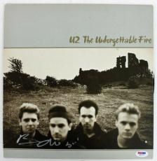 Bono U2 The Unforgettable Fire Signed Album Cover W/ Vinyl PSA/DNA #Z55763