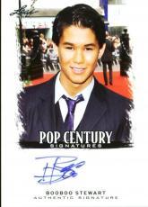 BooBoo Stewart Signed 2012 Leaf Pop Century Signatures Card w/ COA