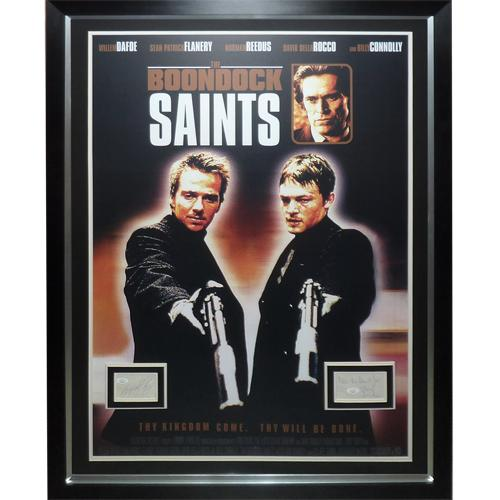 Boondock Saints Full-Size Movie Poster Deluxe Framed with Norman Reedus And Sean Patrick Flanery Autographs – JSA