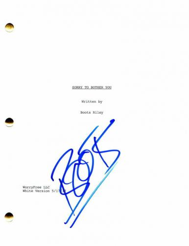 Boots Riley Signed Autograph - Sorry To Bother You Movie Script - Tessa Thompson