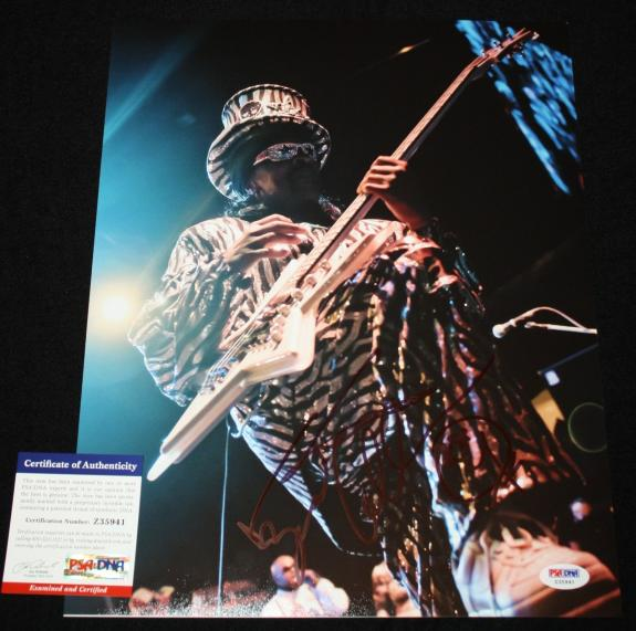 Bootsy Collins signed 11 x 14, Parliament Funkadelic, Ruberband, Funk, PSA/DNA