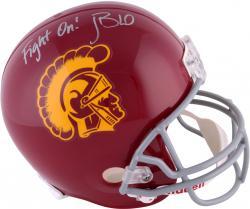 John David Booty USC Trojans Autographed Riddell Replica Helmet with Fight On Inscription