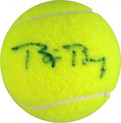BORG, BJORN AUTO (US OPEN) TENNIS BALL - Mounted Memories