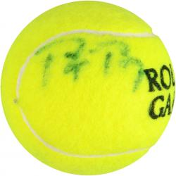 Bjorn Borg & Rafael Nadal Dual Autographed French Open Logo Tennis Ball