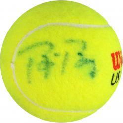 Bjorn Borg & Rafael Nadal Dual Autographed US Open Logo Tennis Ball
