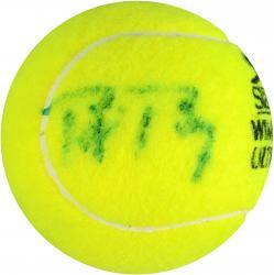 Bjorn Borg & Rafael Nadal Dual Autographed Wimbledon Logo Tennis Ball
