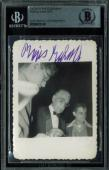 Boris Karloff Signed 2.5x3.5 Candid Black & White Photo BAS Slabbed