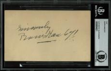 Boris Karloff Signed 3x5 Postcard Postmarked November 12, 1941 BAS Slabbed
