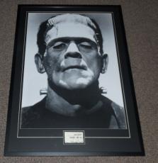 Boris Karloff Signed Framed 28x41 Frankenstein Poster Display JSA