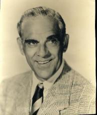 Boris Karloff Signed Jsa Certed Vintage 8x9 Photo Autograph