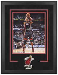 "Chris Bosh Miami Heat Deluxe Framed Autographed 16"" x 20"" Ball In Hand Photograph"