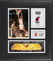 """Chris Bosh Miami Heat Framed 15"""" x 17"""" Collage with Team-Used Ball"""
