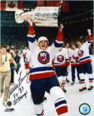 Mike Bossy New York Islanders Autographed 8'' x 10'' Photograph with ''80-83 SC Champs'' Inscription - Mounted Memories