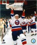 New York Islanders Mike Bossy Autographed 8'' x 10'' Photo - Mounted Memories