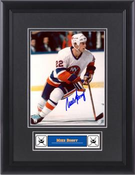 Mike Bossy New York Islanders Framed Autographed 8'' x 10'' Photograph