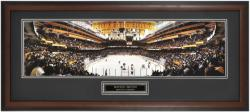 New York Rangers at Boston Bruins Framed Panoramic Photo - Mounted Memories