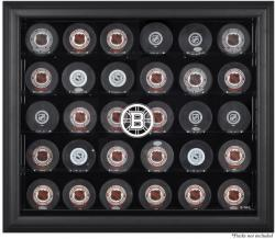 Boston Bruins 30-Puck Black Display Case