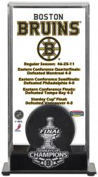 Boston Bruins 2011 Stanley Cup Championship Logo Puck Display Case - Mounted Memories
