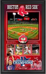 Boston Red Sox 2013 American League Champions 10'' x 18'' Framed Collage with Game-Used Baseball - Limited Edition of 500 - Mounted Memories