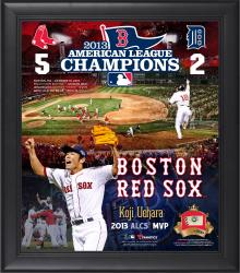 "Boston Red Sox 2013 American League Champions 15"" x 17"" Framed Collage Blend with Game-Used Baseball - Limited Edition of 500"
