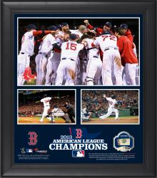 Boston Red Sox 2013 American League Champions Framed 15'' x 17'' Collage with Game-Used Ball - Limited Edition of 500 - Mounted Memories