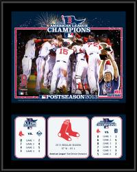 Boston Red Sox 2013 American League Champions Sublimated 12'' x 15'' Plaque - Mounted Memories