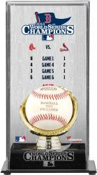 Boston Red Sox 2013 MLB World Series Champions Gold Glove Logo Baseball Display Case - Mounted Memories